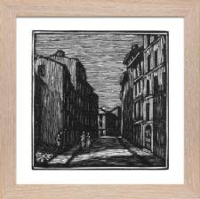 Street by Moonlight Vence 2 block 2 - Ready Framed